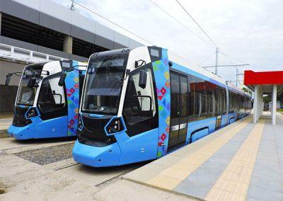 Ecologic and electric urban train in Cochabamba